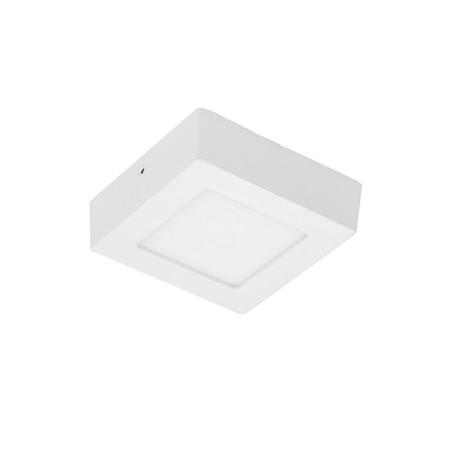 Plafon Led de Sobrepor Quadrado <br/>06W - 12 x 12 cm Quente 3000K