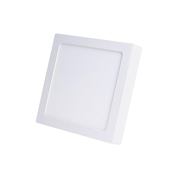 Plafon Led de Sobrepor quadrado <br/>12W - 17 x 17 cm Branco Frio 6000K