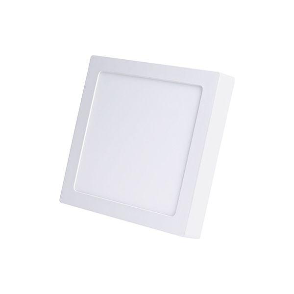Plafon Led de Sobrepor Quadrado <br/>12W - 17 x 17 cm Morno 4000K