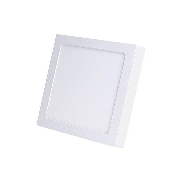 Plafon Led de Sobrepor Quadrado <br/>12W - 17 x 17 cm Quente 3000K