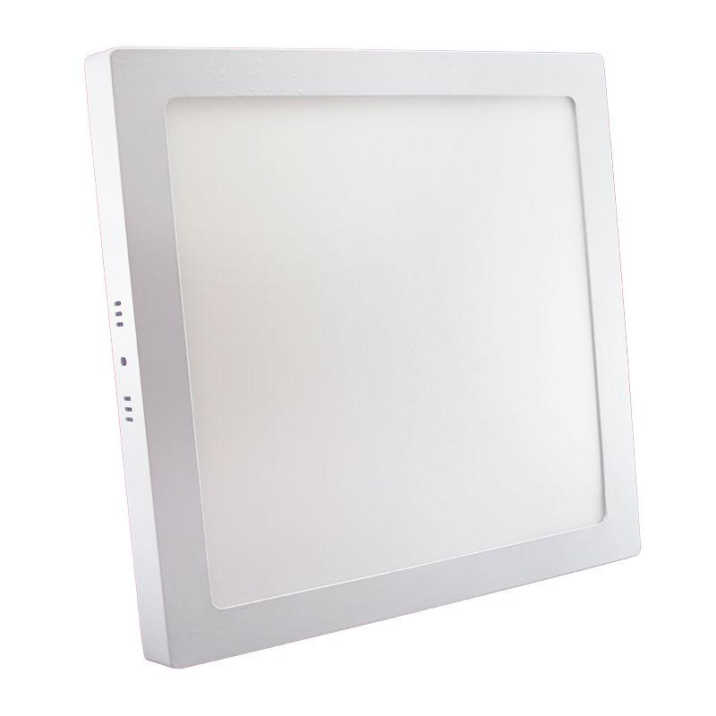 Plafon Led de Sobrepor Quadrado <br/>32W - 30 x 30 cm Quente 3000K