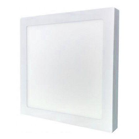 Plafon Led de Sobrepor Quadrado <br/>36W - 40 x 40 cm Quente 3000K