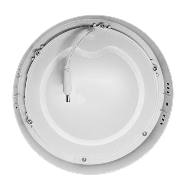 Plafon Led de Sobrepor Redondo <br/>18W - 22 cm Branco Frio 6000K