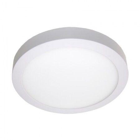 Plafon Led de Sobrepor Redondo <br/>24W - 30 cm Branco Frio 6000K