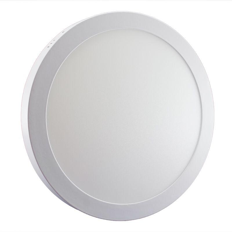 Plafon Led de Sobrepor Redondo <br/>32W - 30 cm Branco Quente 3000K