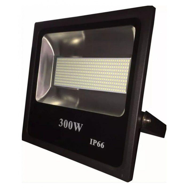 Refletor Holofote Led SMD 300W Branco Frio Uso Externo