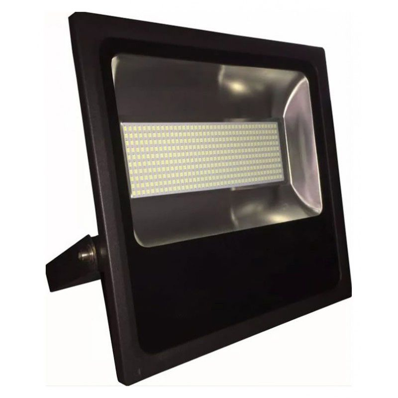 Refletor Holofote Led SMD 400W Branco Frio Preto