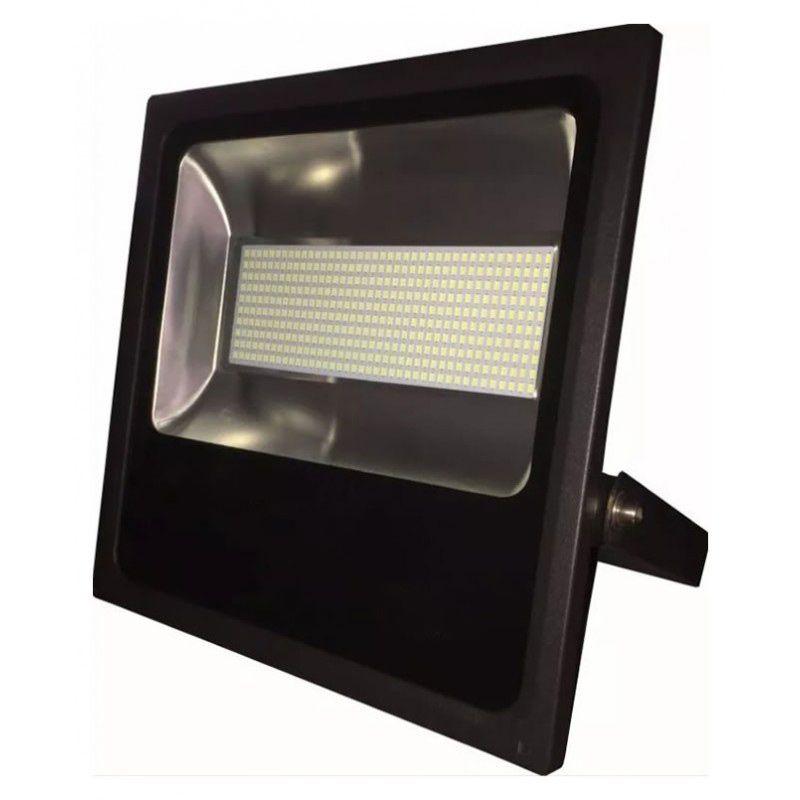 Refletor Holofote Led SMD 400W Branco Frio Uso Externo