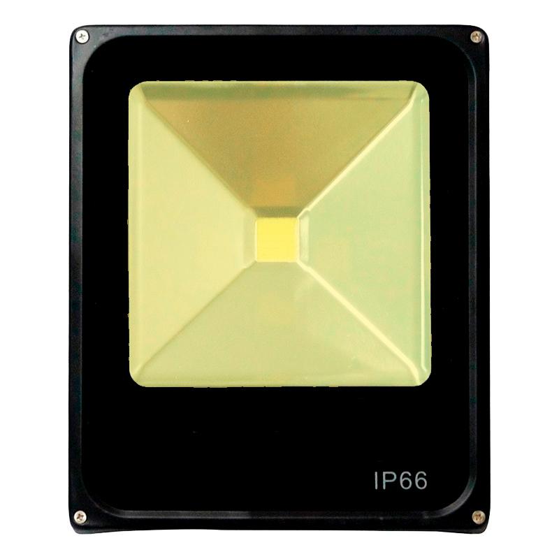 Refletor Led Slim 30W Branco Quente (Amarelo) Uso Externo