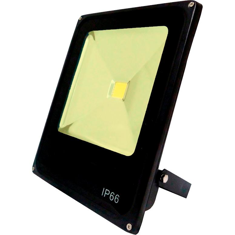 Refletor Led Slim 50W Branco Quente (Amarelo) Uso Externo