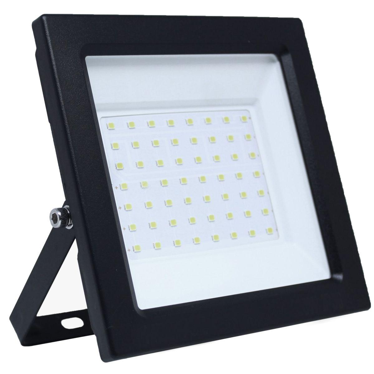 Refletor Led ECO 100W SMD Branco Frio Uso Externo