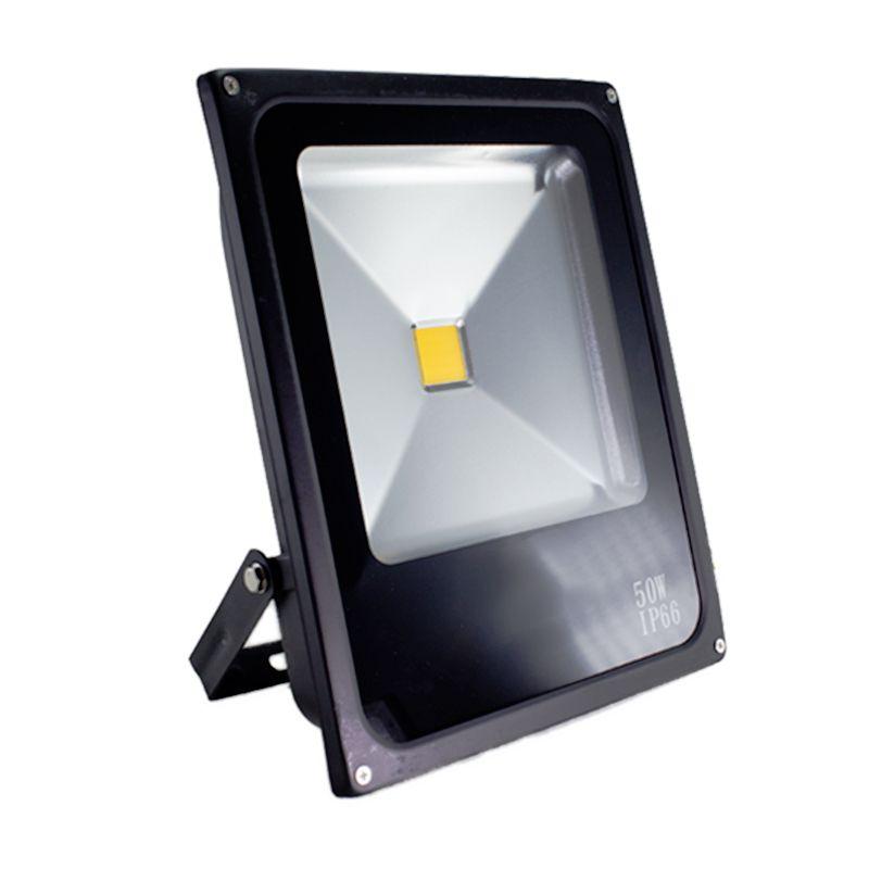 Refletor Led Slim 50W Branco Frio Uso Externo