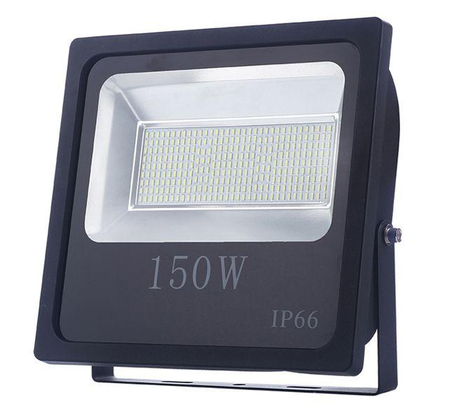 Refletor Led Slim SMD 150W Branco Frio Uso Externo