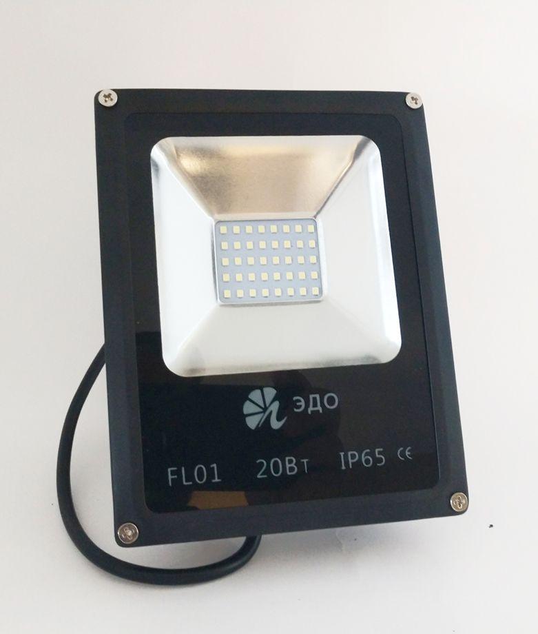 Refletor Led Slim SMD 20W Branco Quente Uso Externo