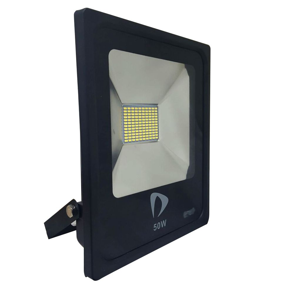 Refletor Led Slim SMD 50W Branco Frio Uso Externo