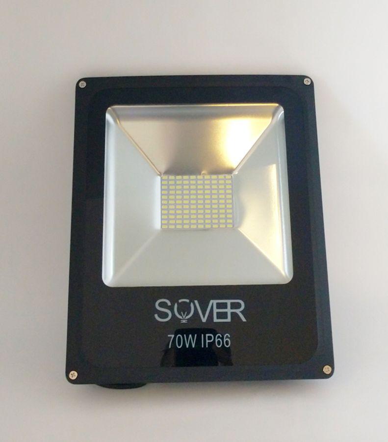 Refletor Led Slim SMD 70W Branco Frio Uso Externo
