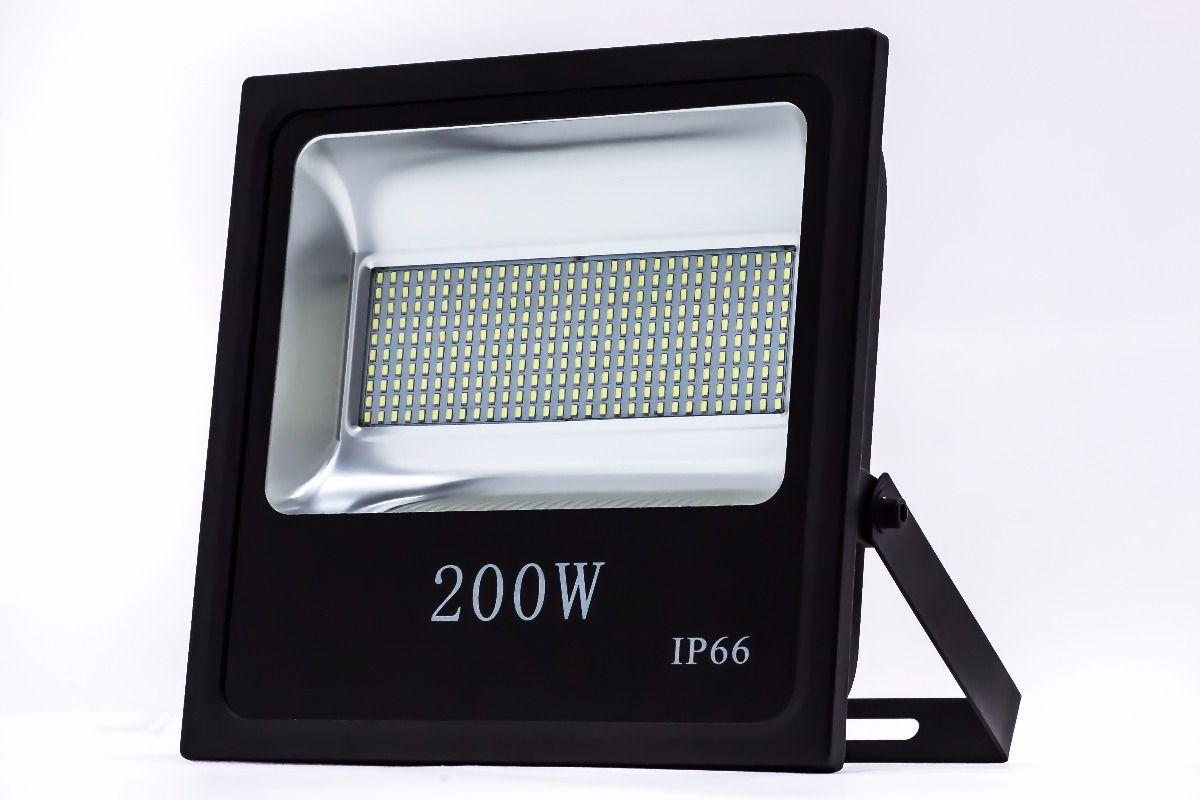 Refletor Led SMD 200W Branco Frio Uso Externo