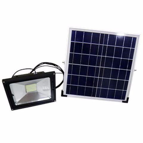 Refletor LED Solar 30W Branco Frio
