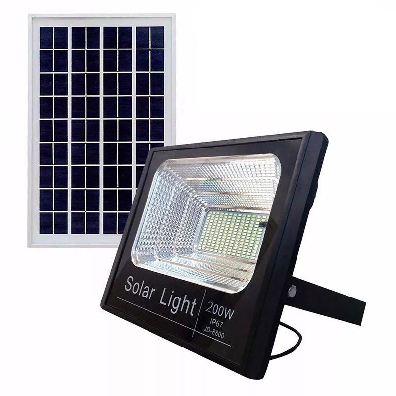 Refletor LED Solar 400W Branco Frio