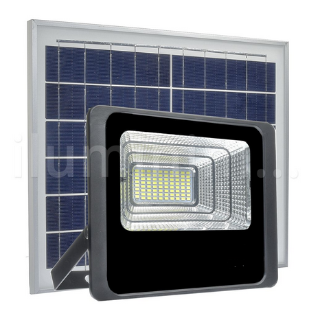 Refletor LED Solar 80W Branco Frio