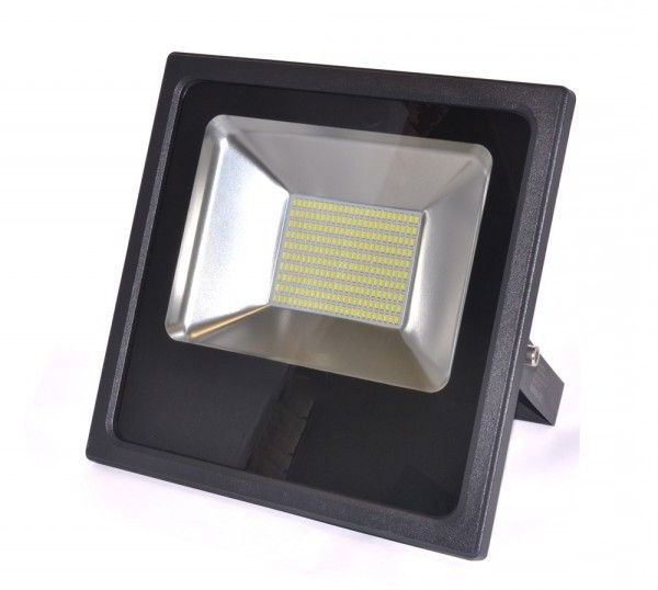 Refletor Super Led Slim SMD 100W Branco Frio Uso Externo