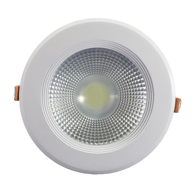 Spot LED COB 12w Embutir Redondo Branco Frio