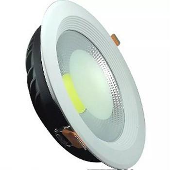 Spot LED COB 24w Embutir Redondo Branco Quente