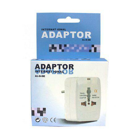 Adaptador Universal De Tomadas  Bivolt De 110 Á 250 Volts 10 Amperes   - Mega Computadores