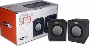Caixa de som 2.0 usb 6w preta - gt-sp20 - hardline  - Mega Computadores