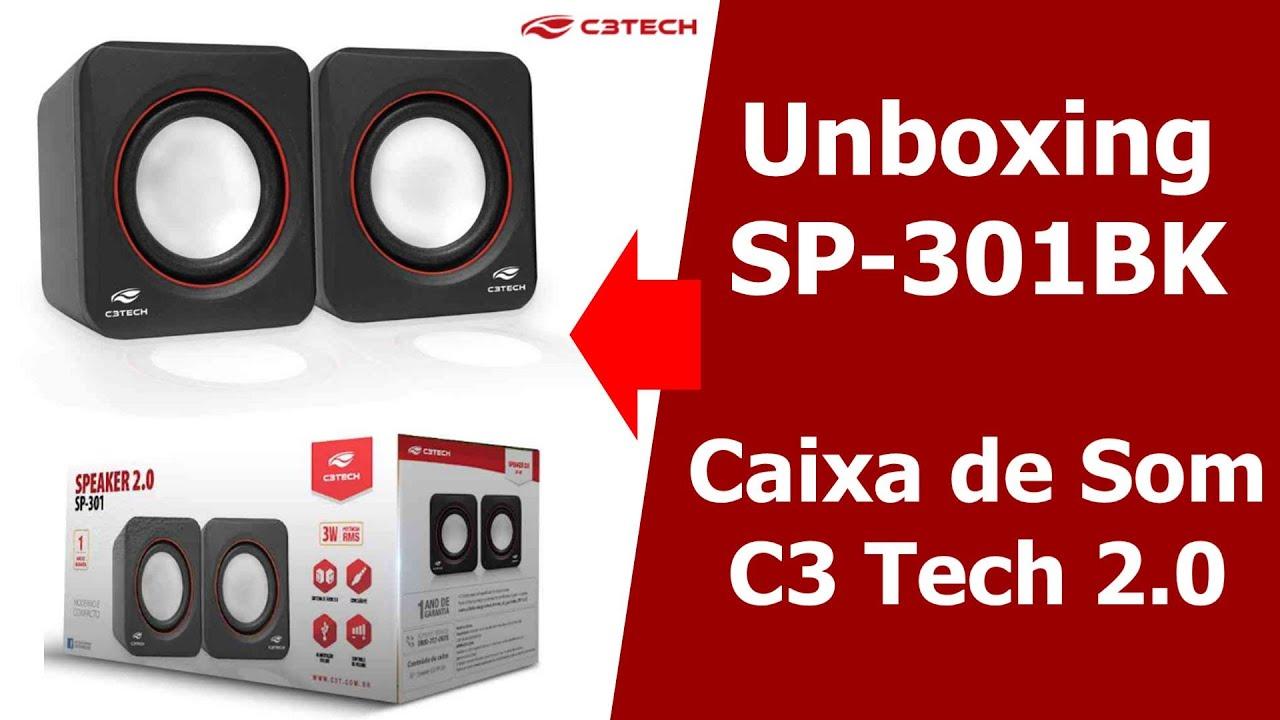 Caixa De Som C3tech 3w Rms Usb Sp-301 Bk  - Mega Computadores