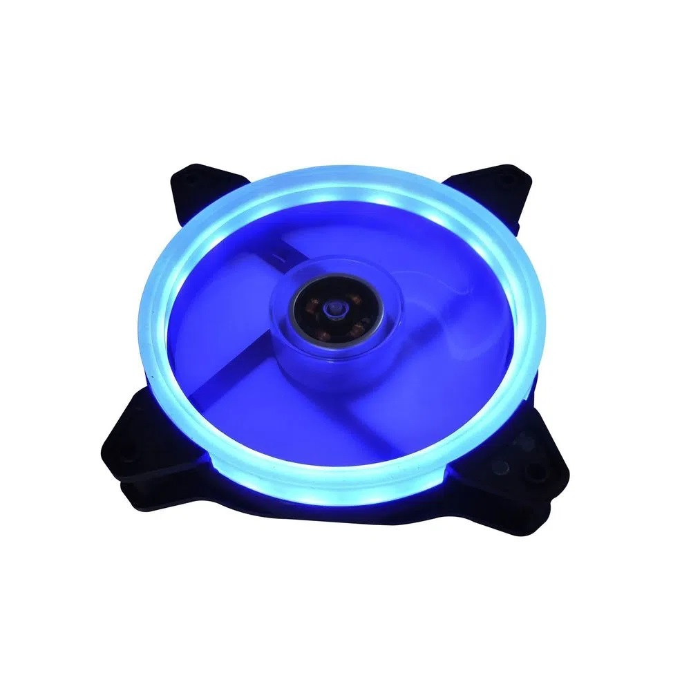 Cooler Fan Para Gabinete 120x120x25mm BrazilPC BPC-DL1252-BLUE Com Led Duplo Azul  - Mega Computadores