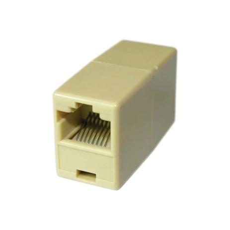 Emenda Cabo Internet Rede Rj45 Femea Femea  - Mega Computadores