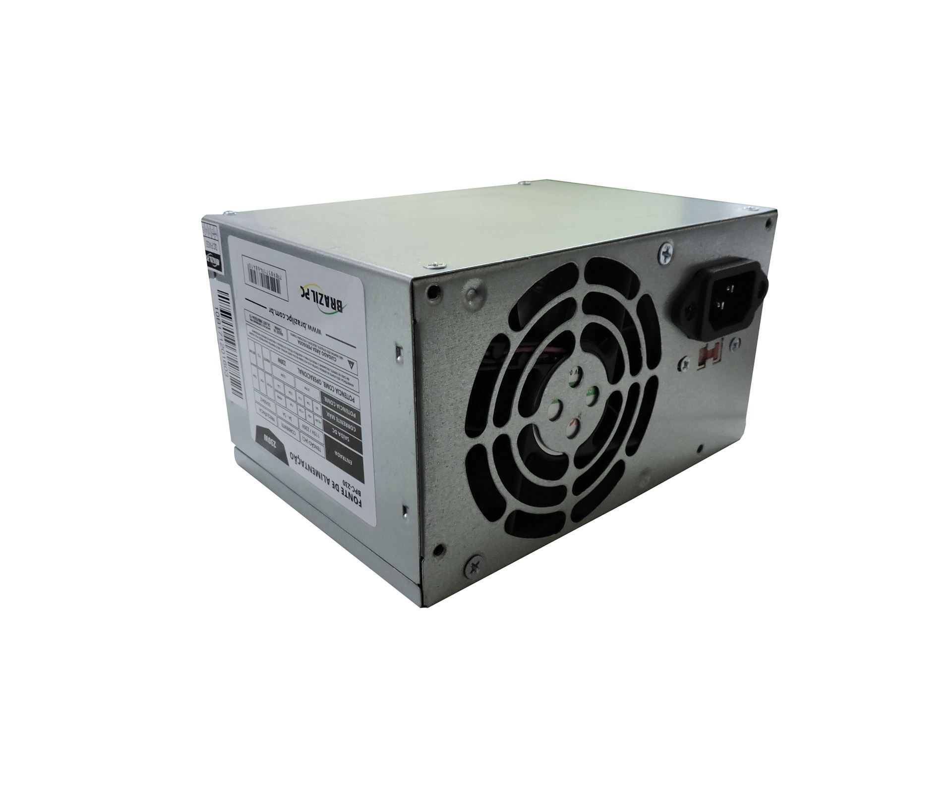 FONTE ATX 230W REAL BRAZILPC BPC-230 24 PINOS/2x Sata/2x IDE  - Mega Computadores