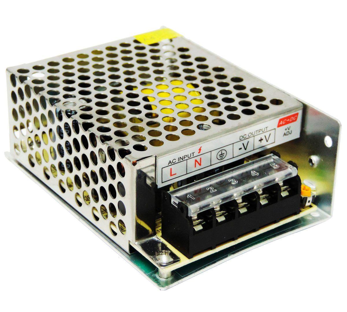 Fonte Chaveada Bivolt Tipo Colmeia 12v X 10a Para Cftv  - Mega Computadores