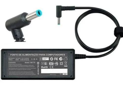 Fonte Para Notebook HP 19,5V/3,33A (65W) Modelo 761 - Plug Azul 4,5x3,0mm Com Agulha  - Mega Computadores