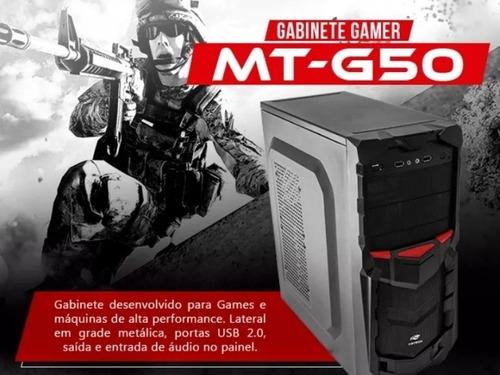 Gabinete Gamer C3 Tech M. MT-G50BK Sem Fonte  - Mega Computadores