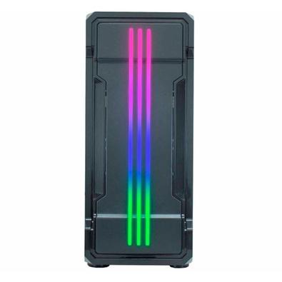 Gabinete Gamer K-Mex CG-01KB Bifrost II, Painel LED RGB Rainbow  - Mega Computadores