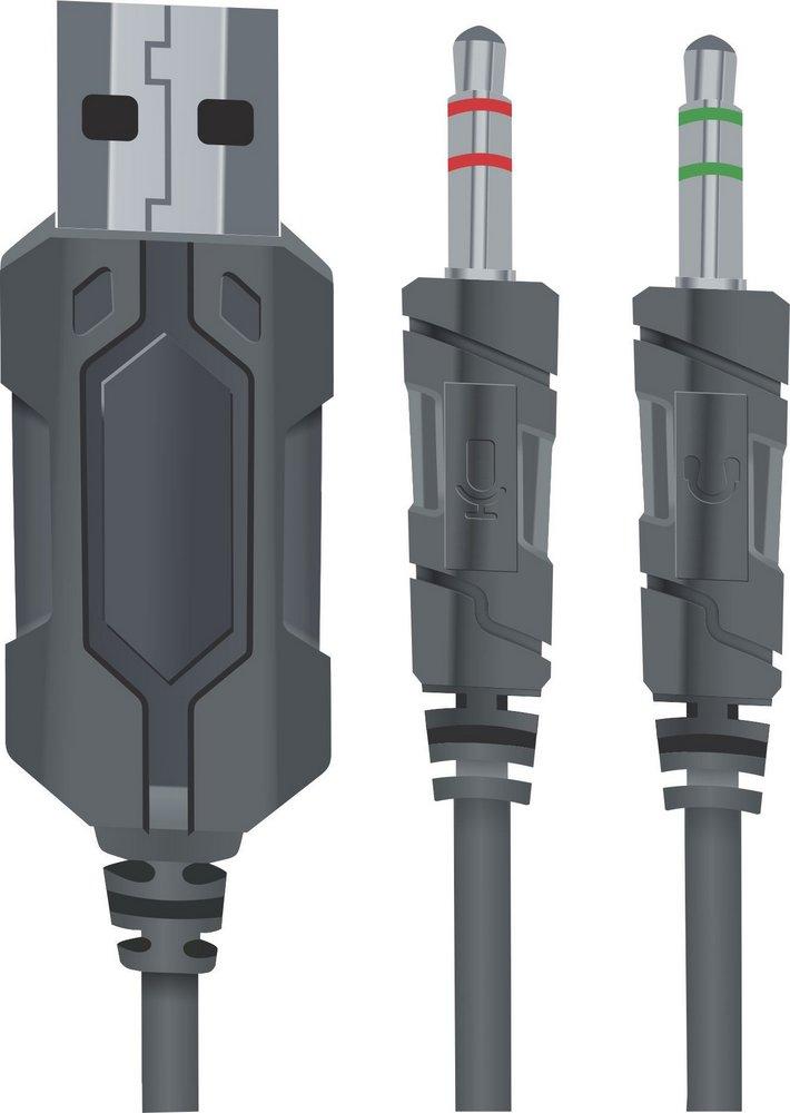 Headset BrazilPC Gamer BPC-SP314 Com Microfone - 2 Cabos P2 3,5mm + USB  - Mega Computadores