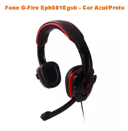 Headset  G-Fire  EPH501 Stereo P2 Preto/Vermelho, EPH501EGS  - Mega Computadores