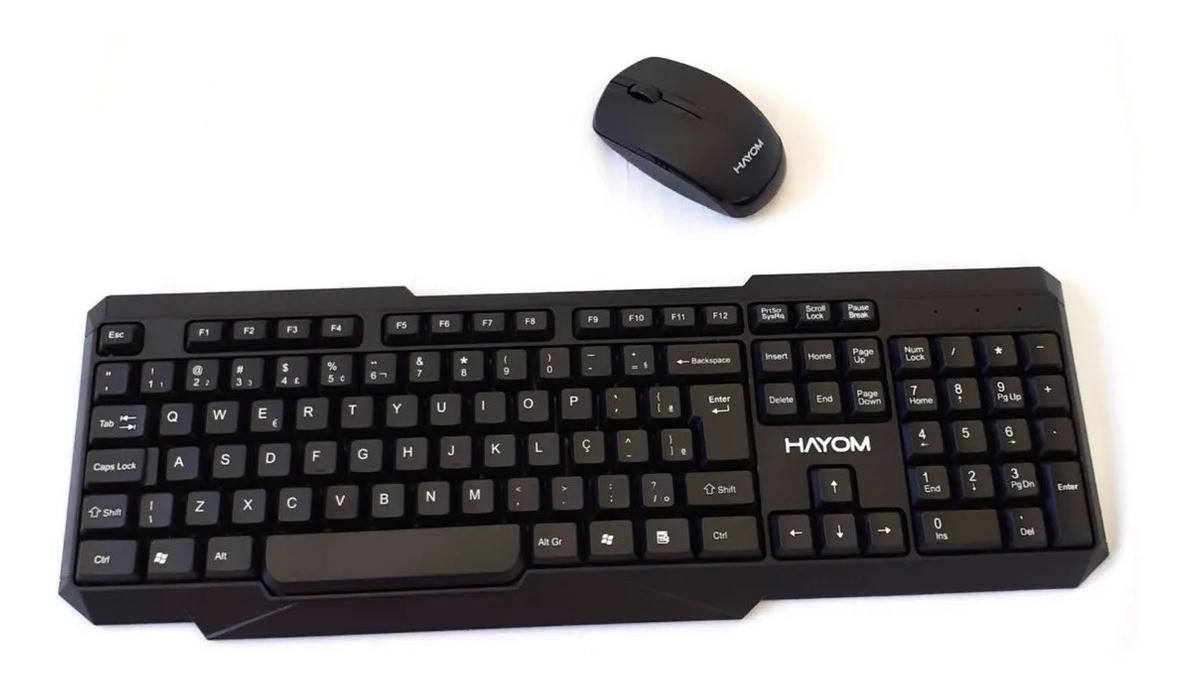 Kit Mouse e Teclado sem fio wireless TC-3210 Hayom  - Mega Computadores