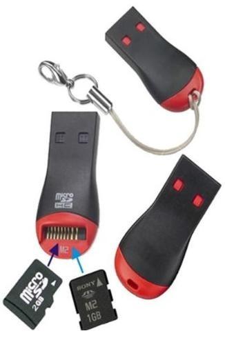 Mini Leitor de Cartão de Memória USB Para MicroSD e M2  - Mega Computadores