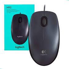 Mouse com fio USB Logitech M90 - Cinza  - Mega Computadores