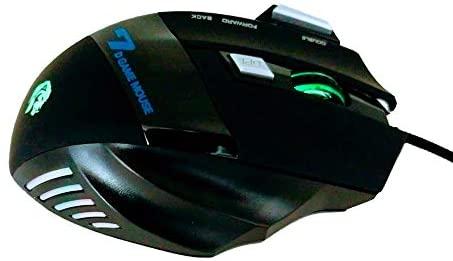 Mouse Gamer Hayom 7D MU-2909 DPI 7 Botões Preto com LED  - Mega Computadores