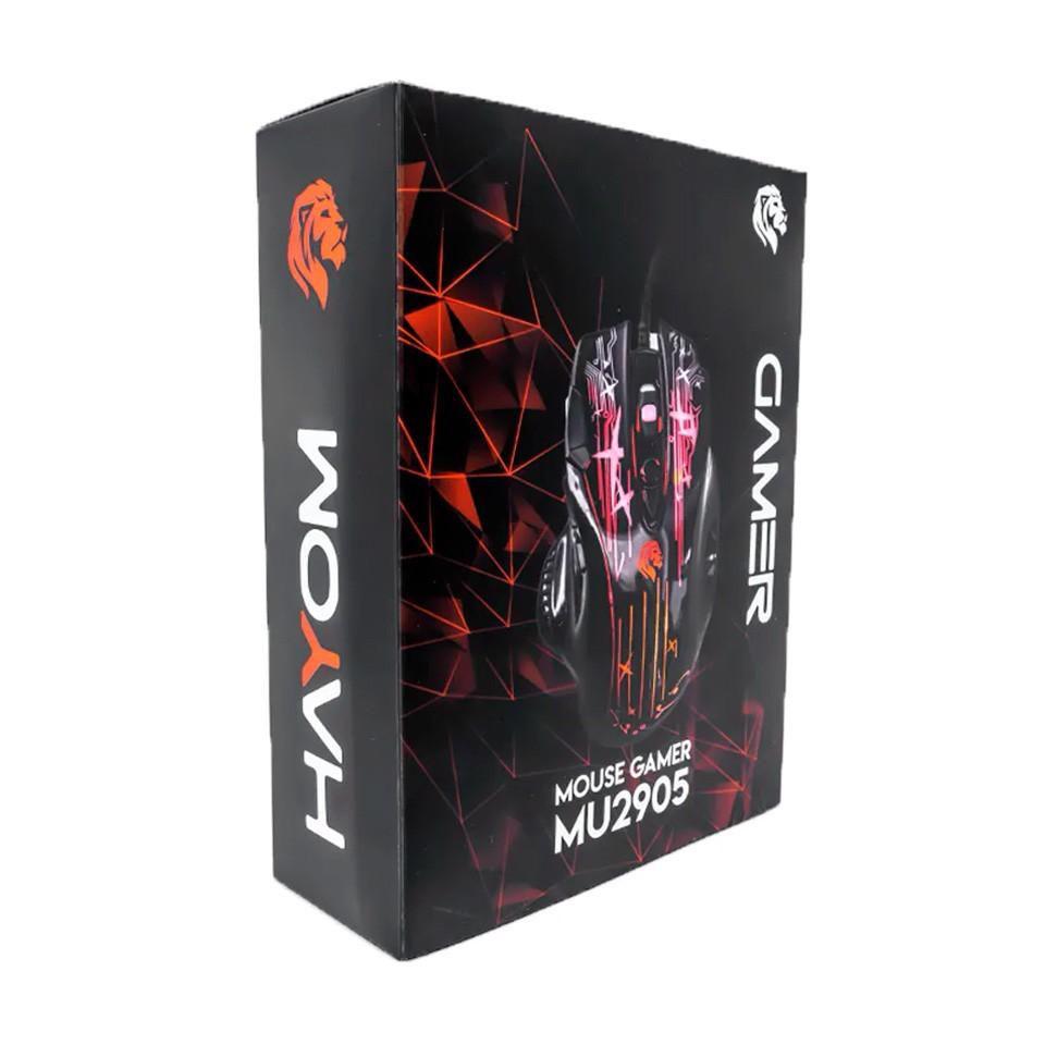 Mouse Gamer Hayom Usb Laser Led Brilhante 8 Botões Mu 2905  - Mega Computadores