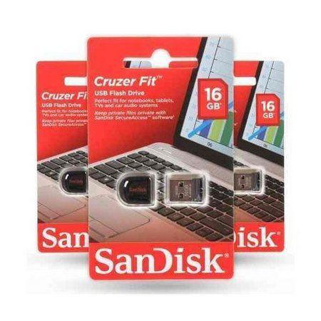 Pen Drive Sandisk Cruzer Fit SDCZ33-016G-B35 16GB  - Mega Computadores