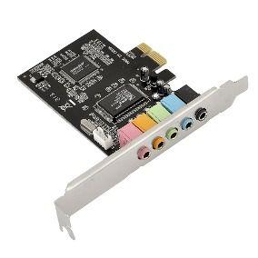 Placa de Som PCI-e Express 5.1 6 Canais - DP-65  - Mega Computadores