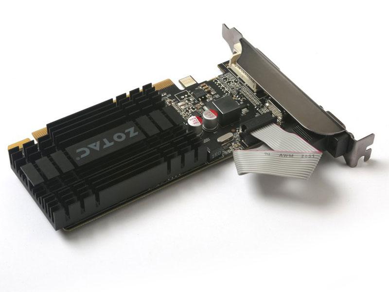 Placa de vídeo NVidia Geforce GT 710 2GB 64-Bit 1600MHz GDDR3 Zotac ZT-71301-20L - 192CUDAs  - Mega Computadores