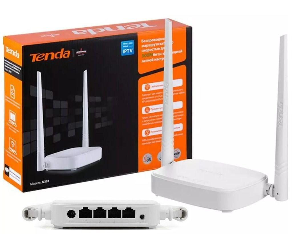 Roteador Tenda F3 300MBPS Wireless C/ 3 Antenas 5 DBI   - Mega Computadores