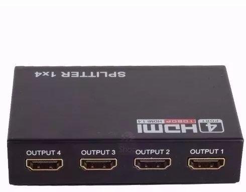 Splitter Distribuidor Hdmi 1x4 Divisor Full Hd 1.4 3d  - Mega Computadores