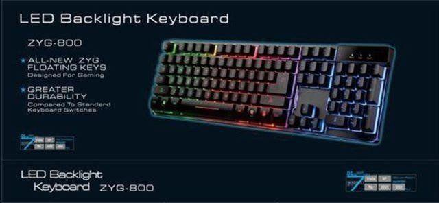 Teclado Gamer Zyg 800 Led Colorido  - Mega Computadores